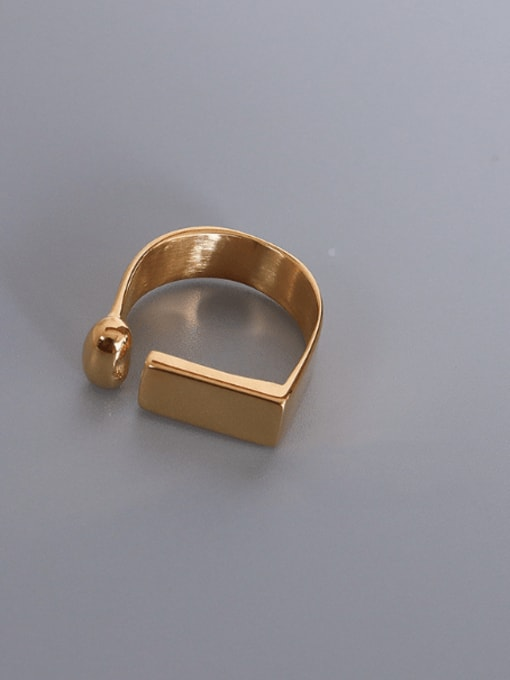 MAKA Titanium 316L Stainless Steel Geometric Minimalist Band Ring with e-coated waterproof 2