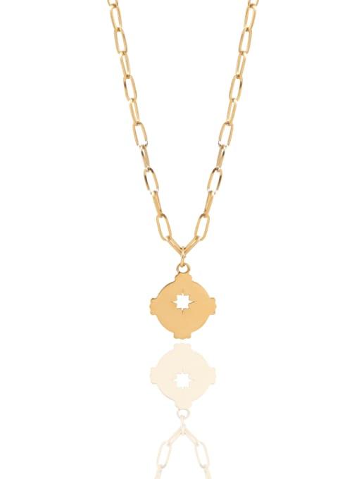 YAYACH O word chain irregular hollow titanium steel necklace