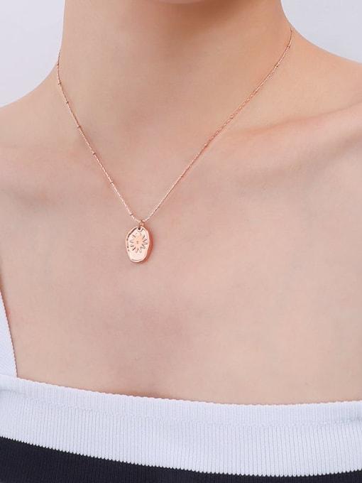 P439 rose necklace 40 +5cm Titanium Steel Geometric Minimalist Necklace