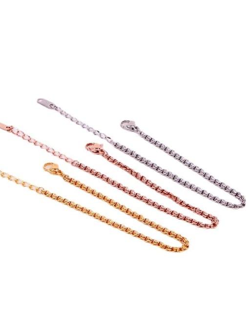 K.Love Titanium Steel Geometric Minimalist Link Bracelet