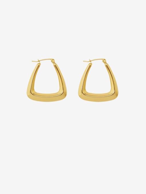 MAKA Titanium Steel Geometric Minimalist Stud Earring 0