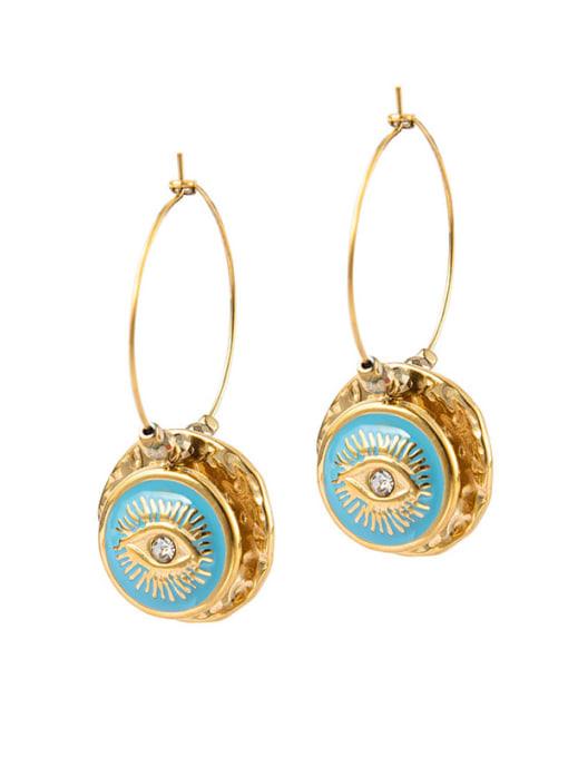 YAYACH Eye shape round oil dropping Earrings European and American Earrings 1
