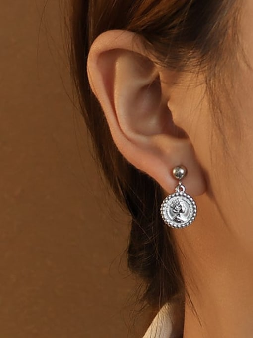A pair of steel earrings for the queen Titanium 316L Stainless Steel Geometric Minimalist Drop Earring with e-coated waterproof