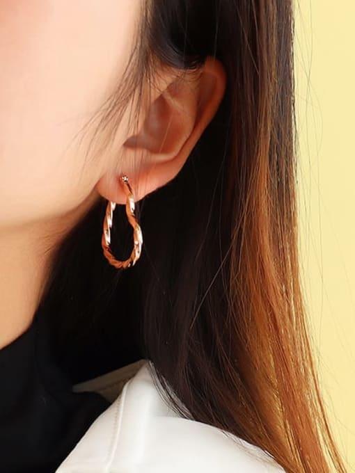 MAKA Titanium Steel Hollow Heart Minimalist Huggie Earring 2