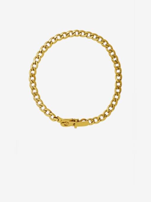 Gold  35cm Titanium Steel Hollow Geometric Vintage Choker Necklace
