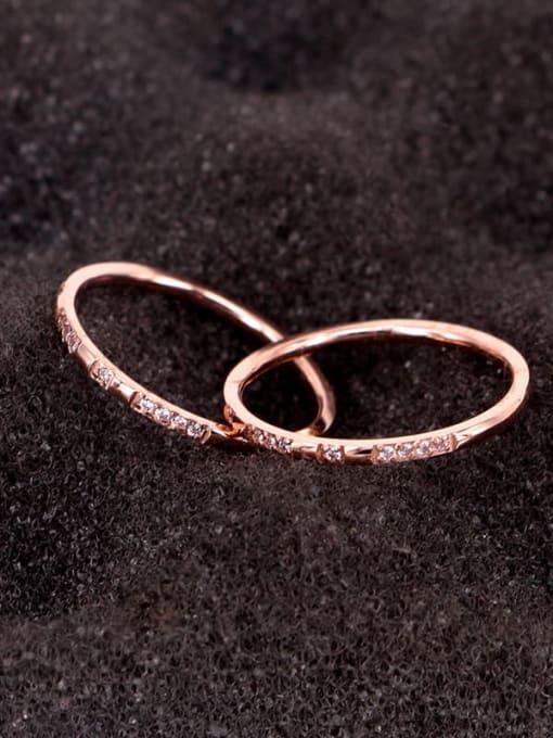 K.Love Titanium Steel Cubic Zirconia Geometric Minimalist Band Ring 1