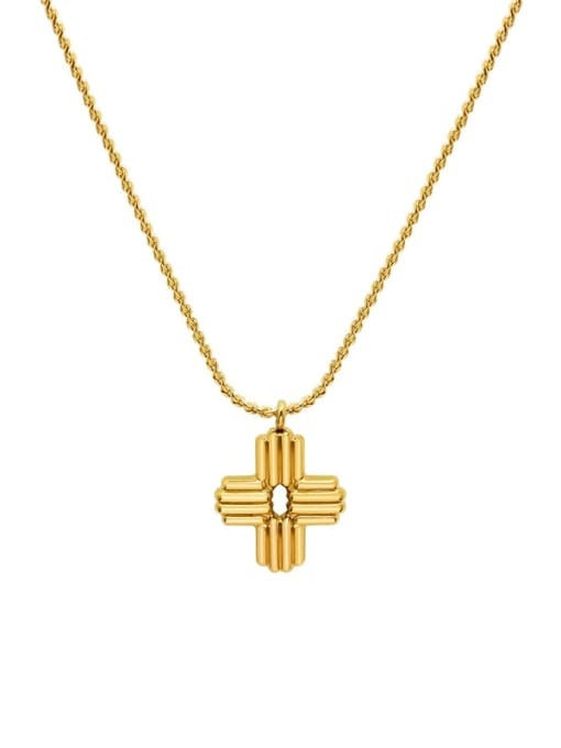 MAKA Titanium Steel Cross Vintage Necklace 0