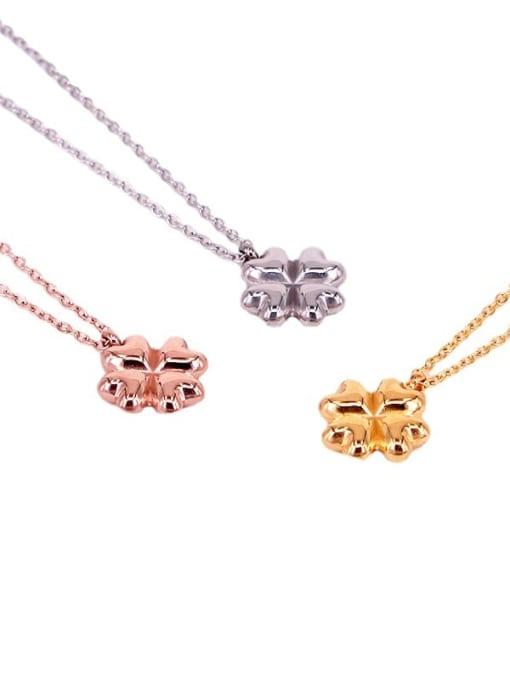 K.Love Titanium Steel Clover Minimalist Necklace