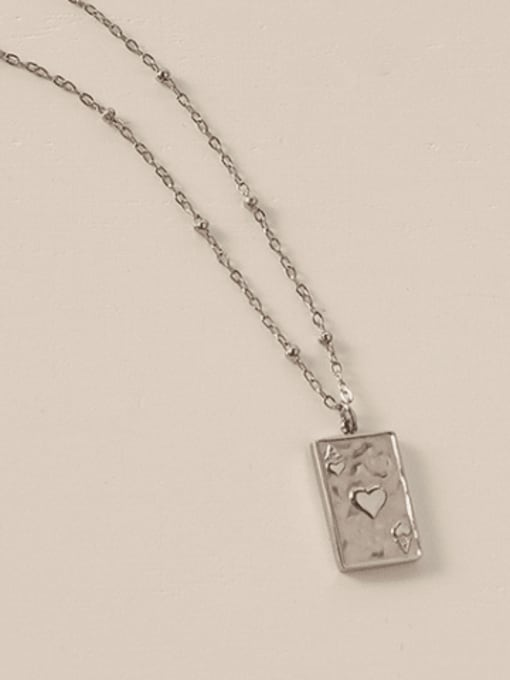 Steel necklace 405cm Titanium Steel Geometric Minimalist Necklace