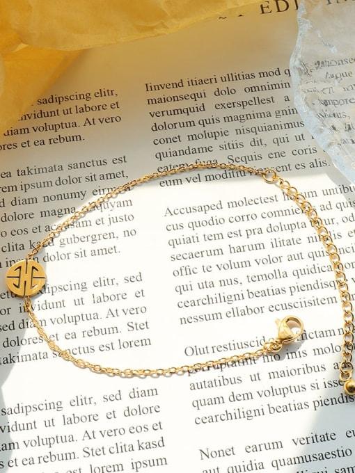 E065 gold lobster clasp 15 +5cm Titanium Steel  Minimalist Irregular Earring Bracelet and Necklace Set