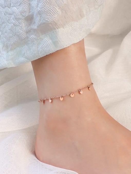 Rose Gold Anklet 20 +5cm Titanium Steel  Minimalist Geometric  Anklet