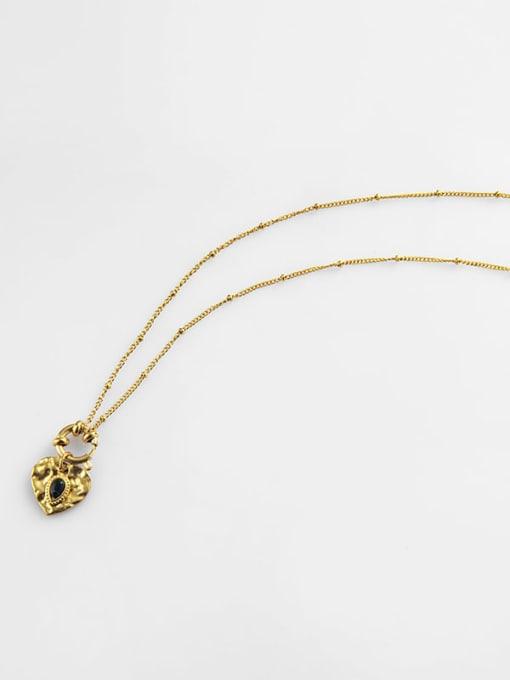 YAYACH Round Pendant water drop Gem Love titanium steel necklace 1