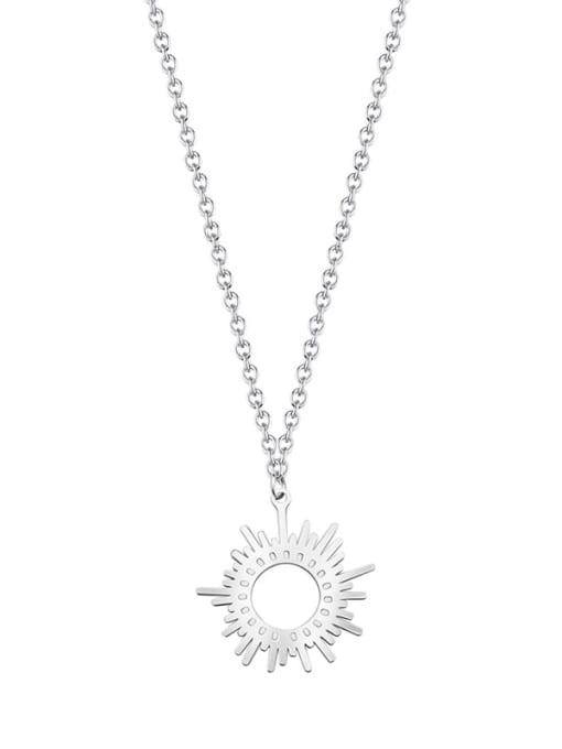YAYACH Six Pointed Sun Clavicle Titanium Steel Necklace 3