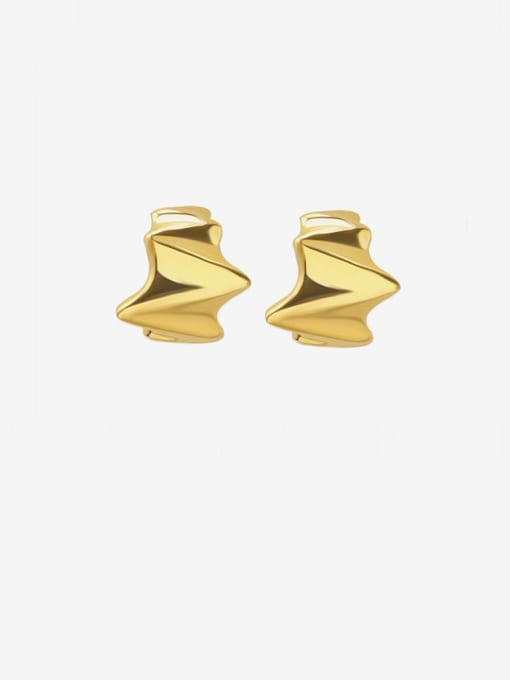 gold Titanium Steel Irregular Minimalist Stud Earring
