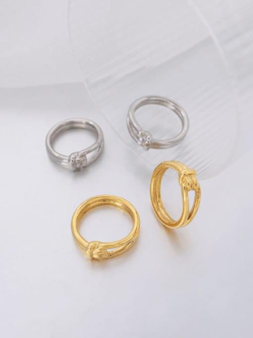 MAKA Titanium Steel Irregular Vintage Band Ring 2