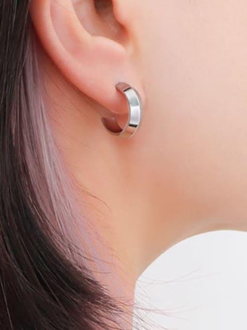 F533 Steel Earrings Titanium Steel Geometric Minimalist Stud Earring