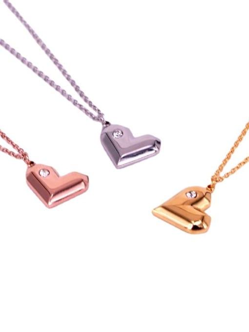 K.Love Titanium Steel Heart Minimalist Necklace 1