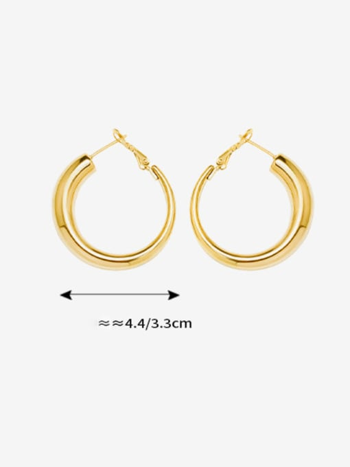MAKA Titanium Steel Geometric Minimalist Hoop Earring 2