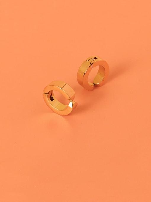 MAKA Titanium Steel Geometric Minimalist Clip Earring 2