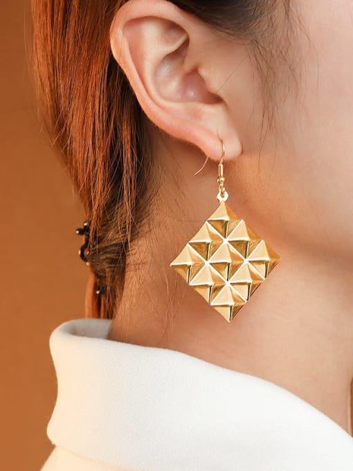 MAKA Titanium Steel Geometric Minimalist Hook Earring 1