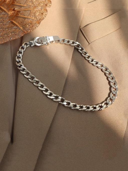 Steel color  35cm Titanium Steel Hollow Geometric Vintage Choker Necklace