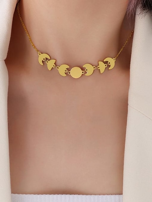 MAKA Brass Smooth Irregular Minimalist Necklace 1