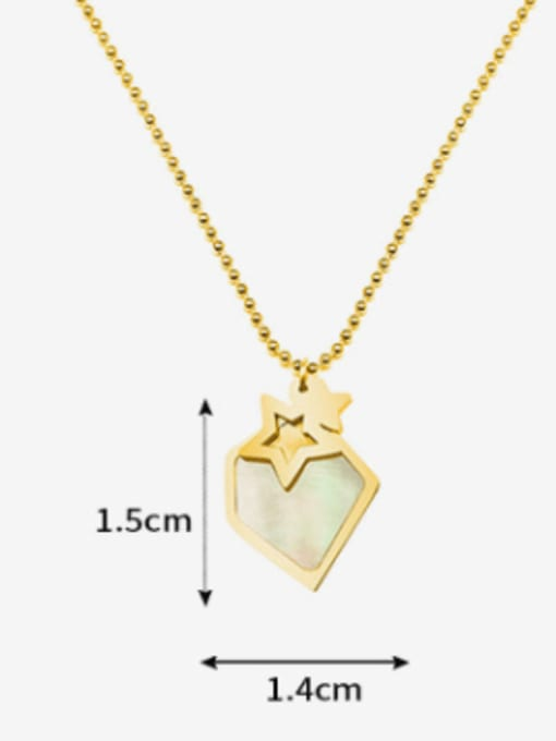 MAKA Titanium Steel Shell Geometric Minimalist Necklace 2