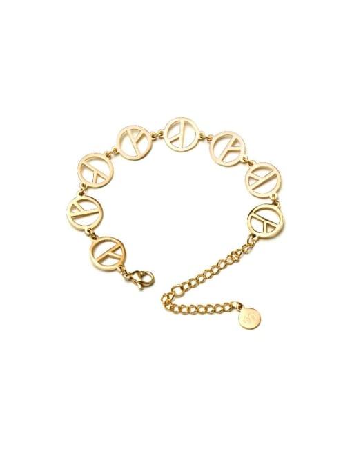 MAKA Titanium Steel Hollow Geometric Minimalist Bracelet