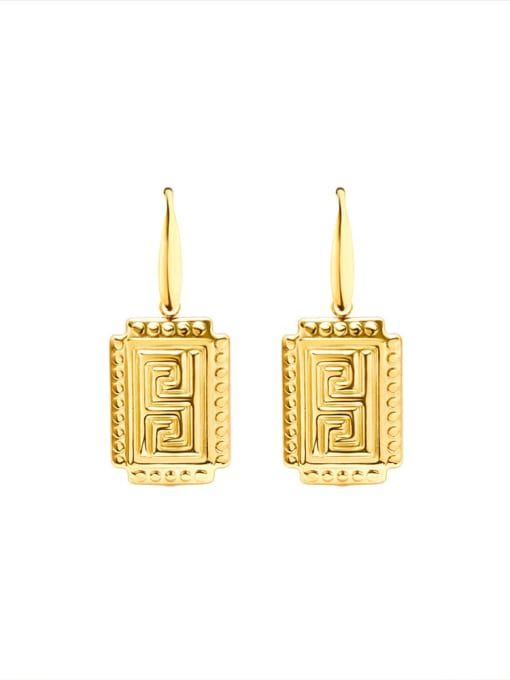 MAKA Titanium Steel Geometric Vintage Hook Earring