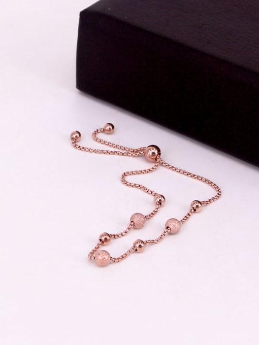 K.Love Titanium Steel Round Ball Minimalist Adjustable Bracelet 1