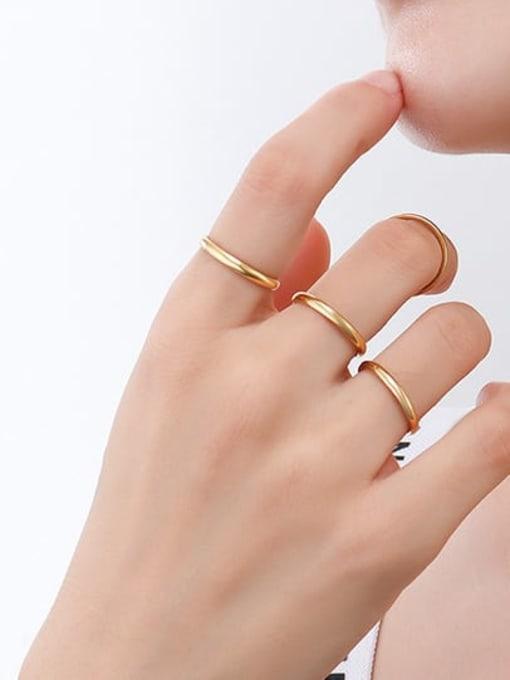 MAKA Titanium Steel Round Minimalist Band Ring 1