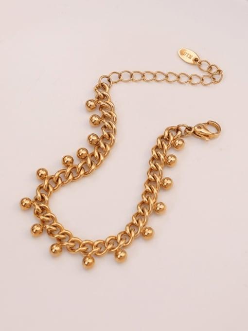 MAKA Titanium Steel Round Bead  Vintage Beaded Bracelet 2