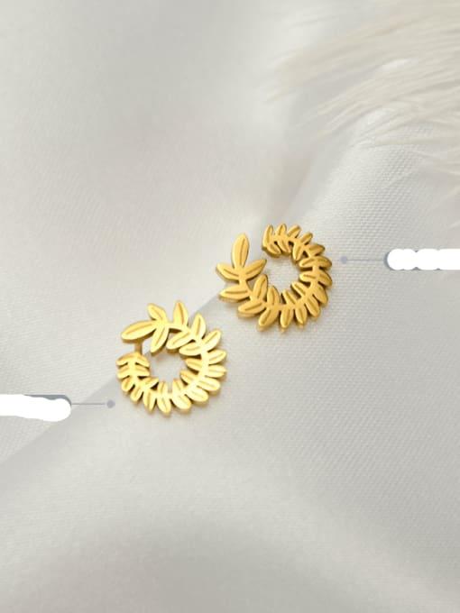 MAKA Titanium Steel Flower Minimalist Stud Earring 2