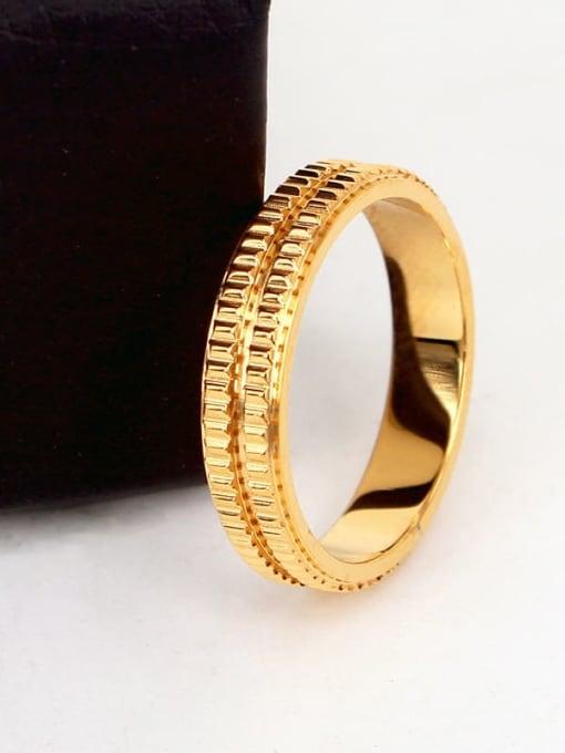 K.Love Titanium Steel Geometric Minimalist Band Ring 2