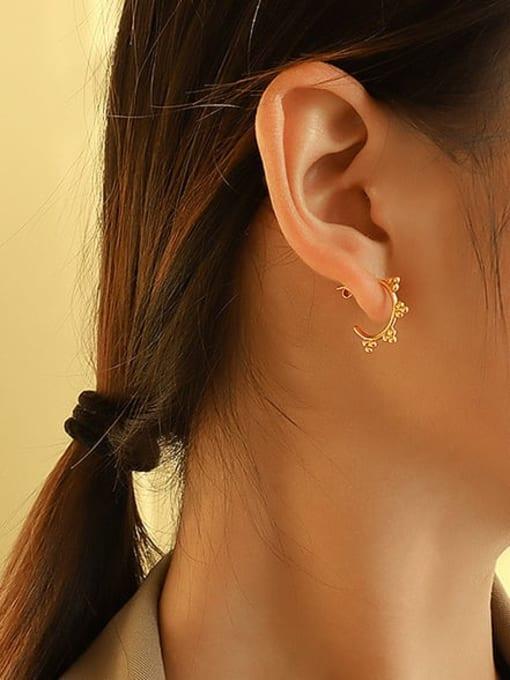 MAKA Titanium Steel Bead Triangle Minimalist Stud Earring 1