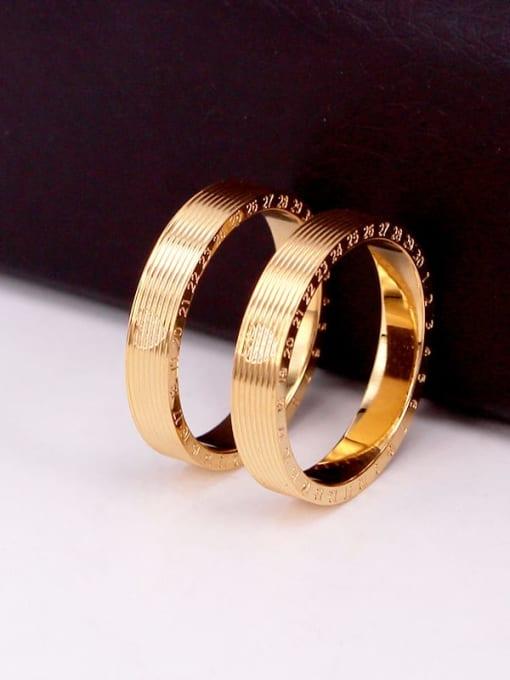 K.Love Titanium Steel Number Minimalist Band Ring 3