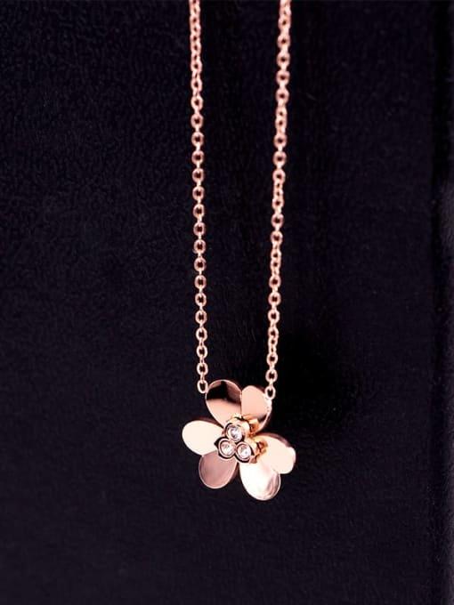 K.Love Titanium Steel Rhinestone Heart Minimalist Necklace 3