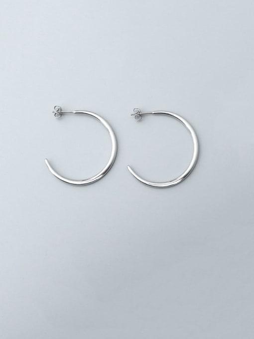 steel (0.2MM) Titanium Steel C shape Minimalist Hoop Earring