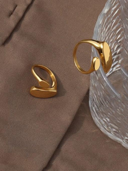 MAKA Titanium Steel Irregular Minimalist Band Ring 2