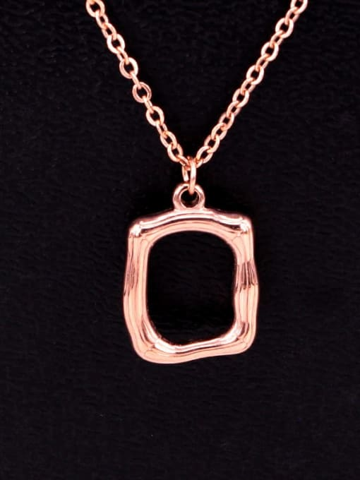 K.Love Titanium Steel Hollow Geometric Vintage  Pendant Necklace