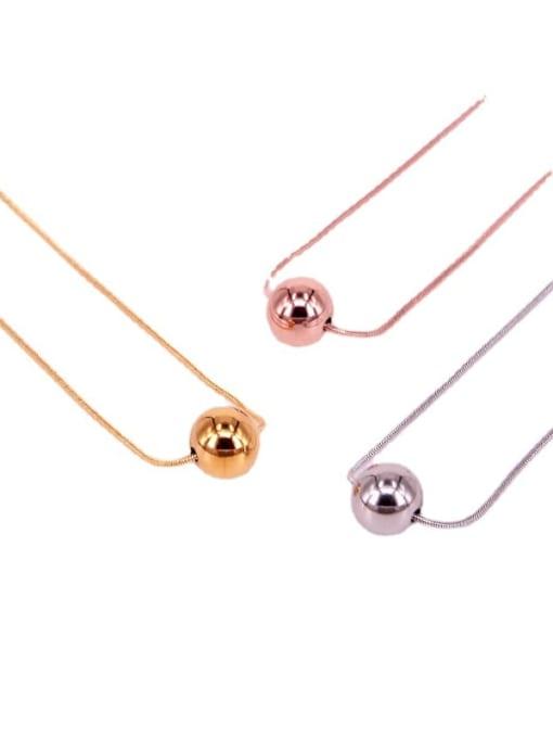 K.Love Titanium Steel Round Bead  Minimalist Necklace