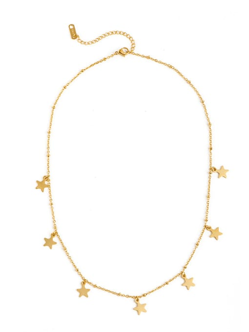 YAYACH Gold thin chain European and American fashion small star pendant necklace 0