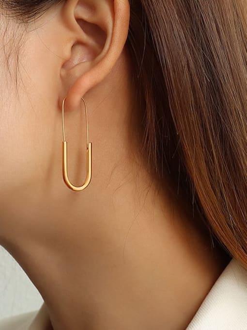 MAKA Titanium Steel Geometric Pin  Minimalist Stud Earring 1