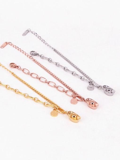 K.Love Titanium Steel Geometric Hip Hop Adjustable Bracelet 0