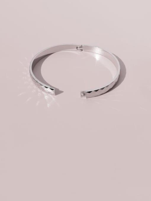 Steel Bracelet Titanium Steel Geometric Vintage Band Bangle
