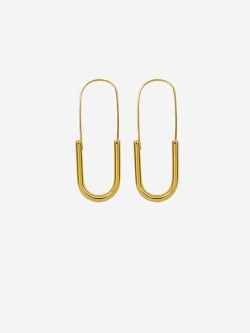 MAKA Titanium Steel Geometric Pin  Minimalist Stud Earring 0