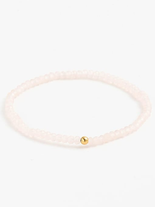 Color Natural stone Beaded key pendant bracelet