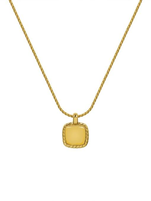 MAKA Titanium Steel Square Minimalist Necklace 2