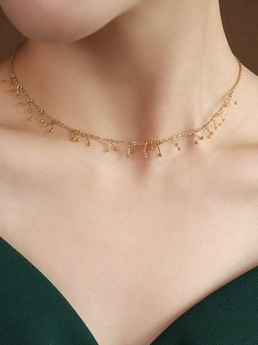 P504 gold necklace 40+ 5cm Titanium Steel Vintage Tassel Braclete and Necklace Set
