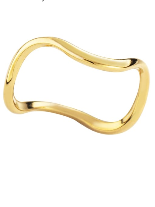 YAYACH Simple design, opening and overlapping titanium steel ring 3